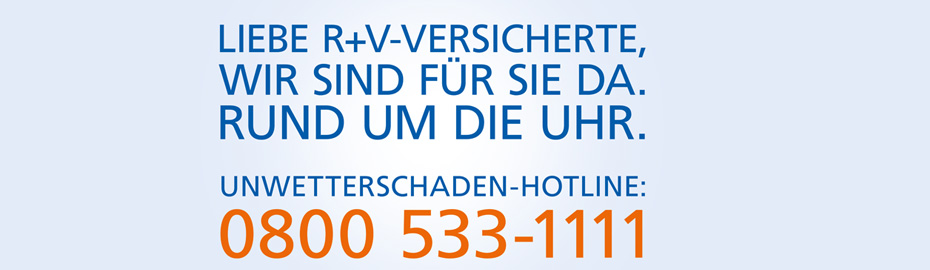 R+V Unwetterschaden-Hotline