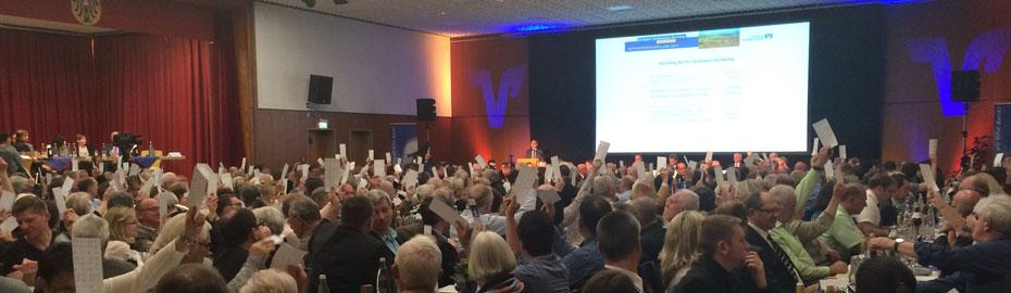 Vertreterversammlung 2016 in der Stadthalle in Breisach