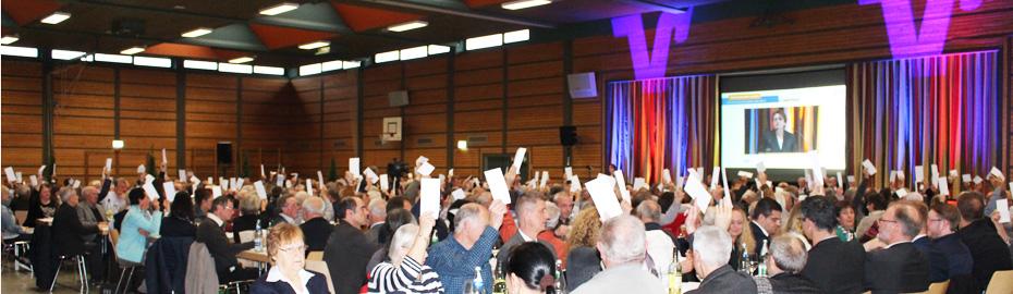 Vertreterversammlung am 27.04.2017 in der Kirchberghalle in Ehrenkirchen